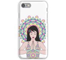 Girl in Meditation iPhone Case/Skin