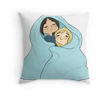 yumikuri cuddles [SnK] Throw Pillow