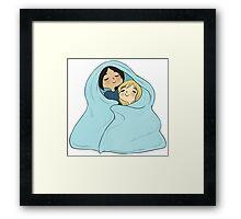 yumikuri cuddles [SnK] Framed Print