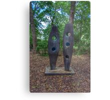 Standing Sculptures Metal Print