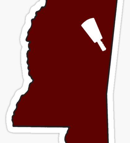 Starkville Mississippi Cowbell Sticker