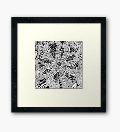 Tangled Flower Framed Print