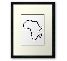 Africa map Framed Print