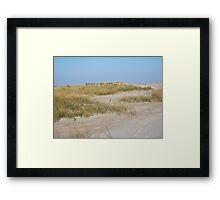Sand dune, Assateague Framed Print