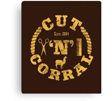 Cut 'N' Corral Canvas Print