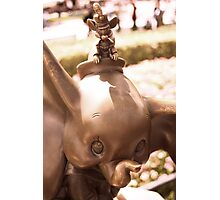 DUMBO WITH TIMOTHY IN BRONZE Photographic Print