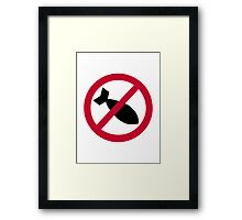 No bombs Framed Print