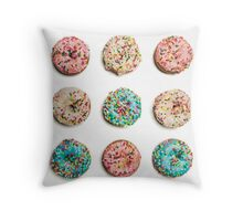 Royal Donuts with Sprinkles Throw Pillow