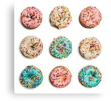 Royal Donuts with Sprinkles Canvas Print