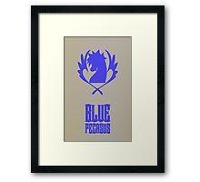 Blue Pegasus Framed Print