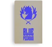 Blue Pegasus Canvas Print