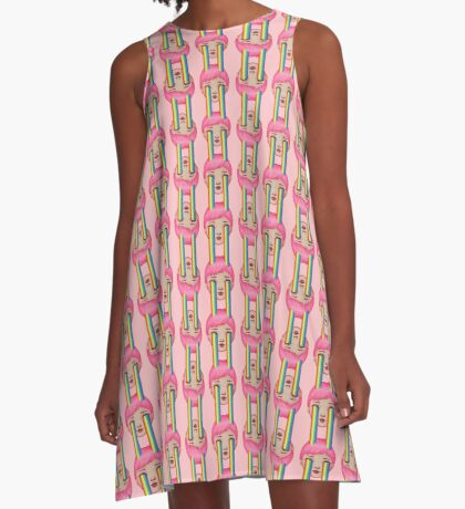 Over the Clouds A-Line Dress
