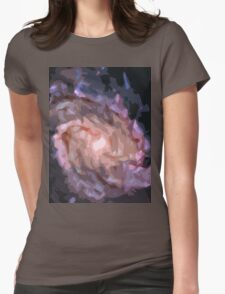 Galaxy Print Womens Fitted T-Shirt