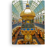 The Great Australian Clock at QVB Canvas Print