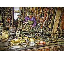 The Brass Turner At Work (Pentax k-r) Photographic Print