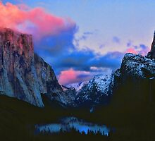 DUSK,YOSEMITE VALLEY by Chuck Wickham