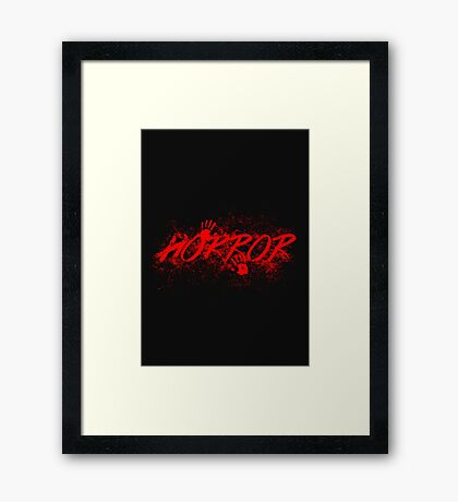 Horror Framed Print