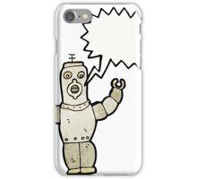 cartoon retro robot iPhone Case/Skin
