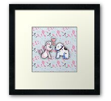Butch and Muffin Framed Print
