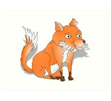 Bushy Tailed Fox Art Print