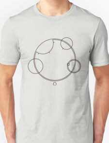 "Circular Gallifreyan ""Allons-y"" graphic top T-Shirt"