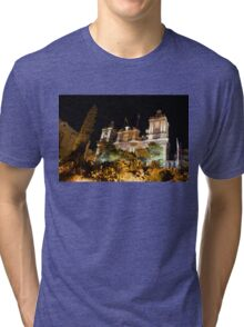 Subtropical Church Garden - St Lawrence in Birgu Malta Tri-blend T-Shirt