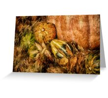 Gourds and Leaves Of Autumn Greeting Card