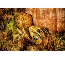 Gourds and Leaves Of Autumn Photographic Print