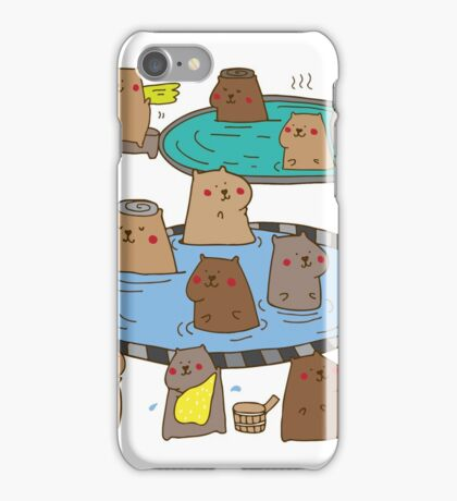 Having a capybara ol' time  iPhone Case/Skin