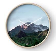 Cilaos Mountains (Reunion Island) Clock