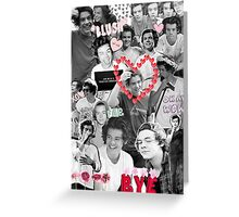Harry Styles B&W Collage Greeting Card