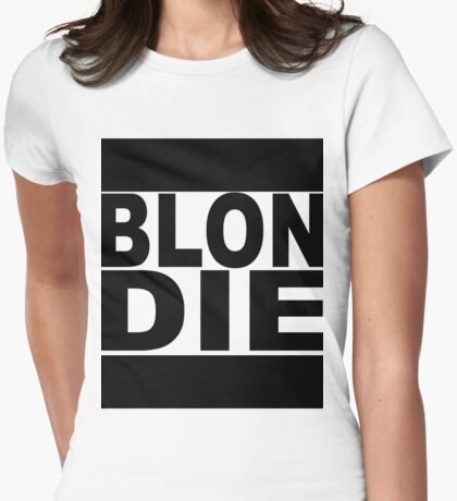 Blondie TShirt schwarz Womens Fitted T-Shirt