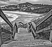 Steps to Lighthouse Beach by TonyCrehan