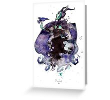 Maleficent inkblot by Mary Doodles Greeting Card