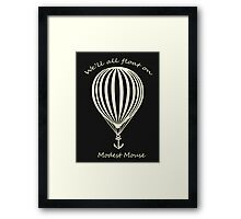 Modest Mouse Float on With Balloon Framed Print