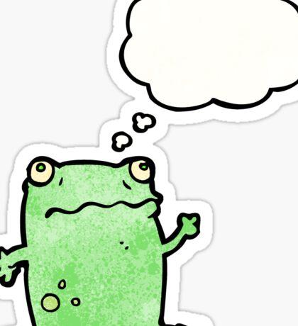 waving frog cartoon Sticker