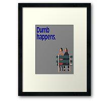 Dumb and Dumber / Forrest Gump Framed Print