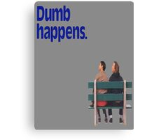 Dumb and Dumber / Forrest Gump Canvas Print