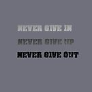 never give in by yvonne willemsen