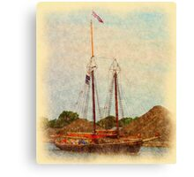 Roseway - To the Muster Canvas Print