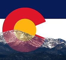 Pikes Peak Colorado Flag by Emily Christine Lankford