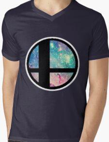 Galactic Smash Bros. Final destination Mens V-Neck T-Shirt