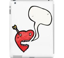 talking love heart cartoon iPad Case/Skin