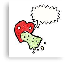 love sick heart cartoon Canvas Print
