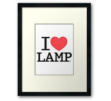 I love Lamp Framed Print