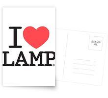 I love Lamp Postcards