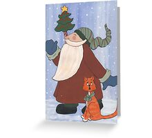 Juggling Santa Greeting Card