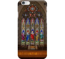Sacred Hearth Cathedral Stained Glass Windows iPhone Case/Skin