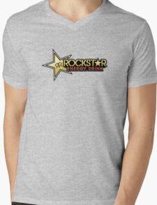 Rockstar Energy Drink shirt Mens V-Neck T-Shirt
