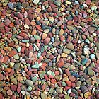 Small clean colorful stones in  the lake of Glacier National Park. Nature photography. by naturematters